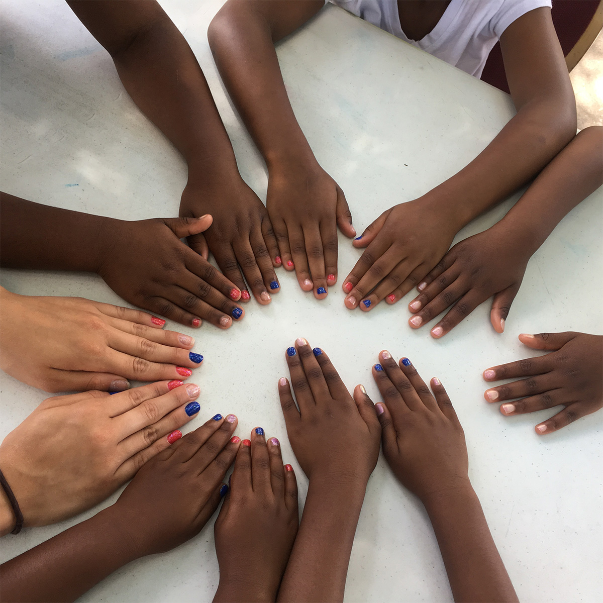 Youth hands